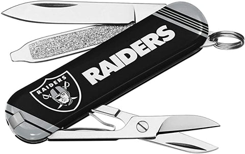 LAS VEGAS (OAKLAND) RAIDERS NFL Essential Pocket Multi-Tool Keychain