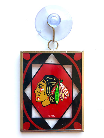 CHICAGO BLACKHAWKS NHL Stained Glass Christmas Ornament & Suncatcher