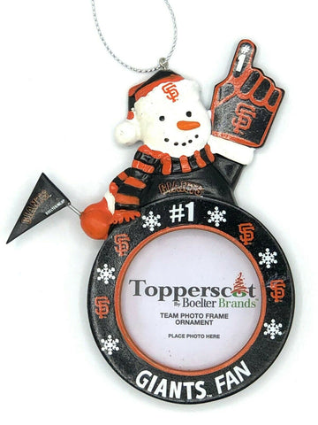 SAN FRANCISCO GIANTS MLB Snowman Photo Frame Christmas Ornament