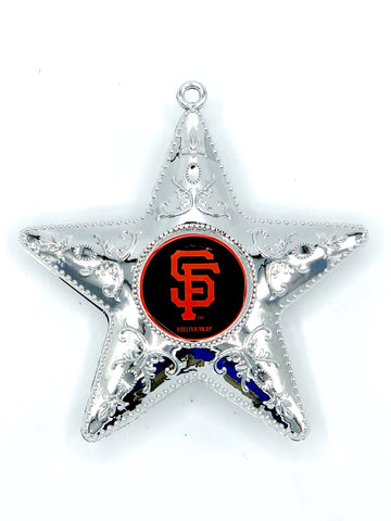 SAN FRANCISCO GIANTS MLB Silver Star Christmas Ornament