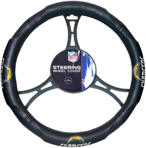 LOS ANGELES (SAN DIEGO) CHARGERS NFL Synthetic Leather Steering Wheel Cover