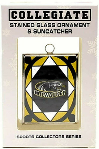 WISCONSIN MILWAUKEE PANTHERS NCAA Stained Glass Window Christmas Ornament