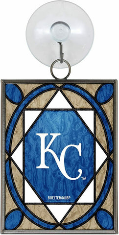 KANSAS CITY ROYALS MLB Stained Glass Window Christmas Ornament and Suncatcher