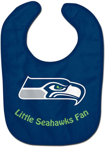 "SEATTLE SEAHAWKS NFL All Pro ""Little Fan"" Baby Bib"