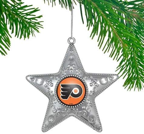 PHILADELPHIA FLYERS NHL Silver Star Christmas Ornament