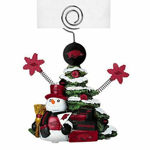 ARKANSAS RAZORBACKS NCAA Christmas Tree Photo Holder with Snowman