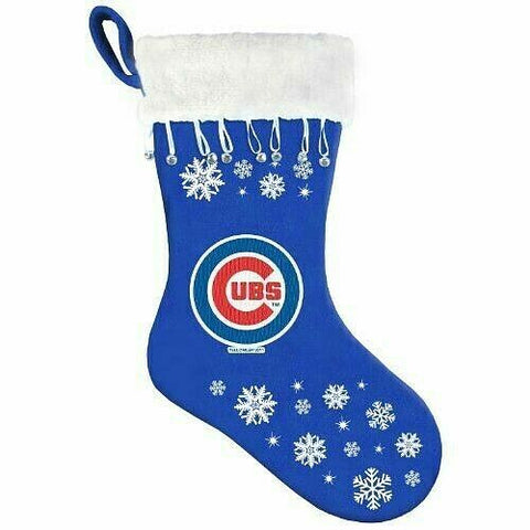 CHICAGO CUBS MLB Snowflake Christmas Santa Stocking