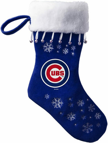 CHICAGO CUBS MLB Full Embroidered Snowflake Christmas Santa Stocking