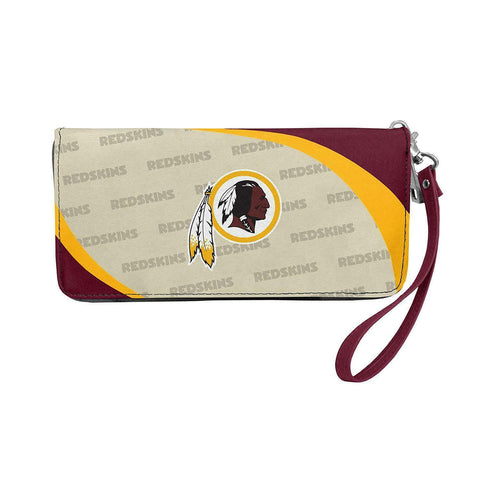 WASHINGTON REDSKINS NFL Women's Synthetic Leather Curve-Zip Organizer Wallet