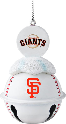 SAN FRANCISCO GIANTS MLB Metal Baseball Bell Ornament