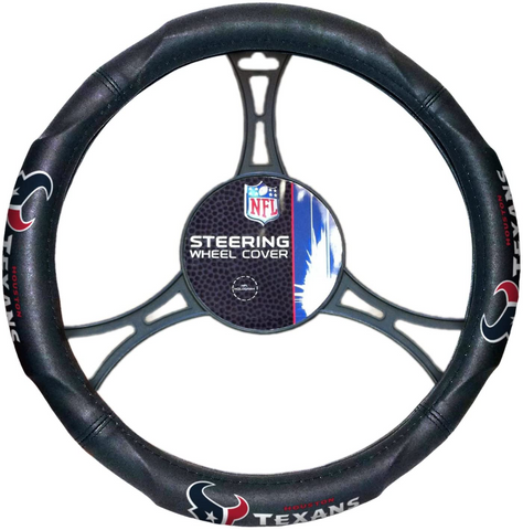 HOUSTON TEXANS NFL Synthetic Leather Steering Wheel Cover
