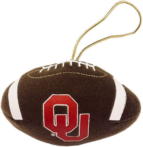 OKLAHOMA SOONERS NCAA Plush Football Ornament