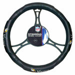 "MINNESOTA VIKINGS NFL Synthetic Leather Steering Wheel Cover 14.5"" x 15.5"""