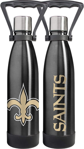 NEW ORLEANS SAINTS Stainless Steel Ultra Water Bottle - Coffee Tumbler, 17 Oz