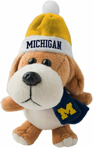 MICHIGAN WOLVERINES NCAA 4 inch Plush Dog Christmas Ornament