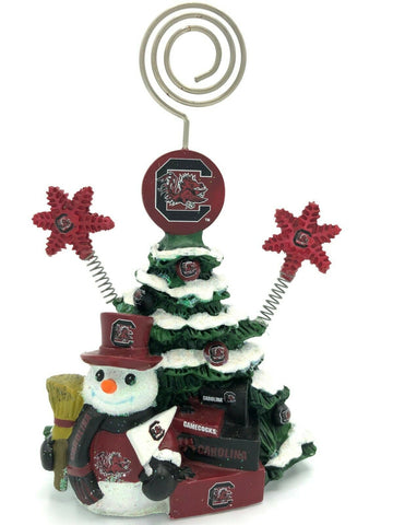 SOUTH CAROLINA GAMECOCKS Christmas Tree Photo Holder with Snowman
