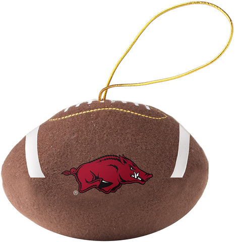 ARKANSAS RAZORBACKS NCAA Plush Football Ornament
