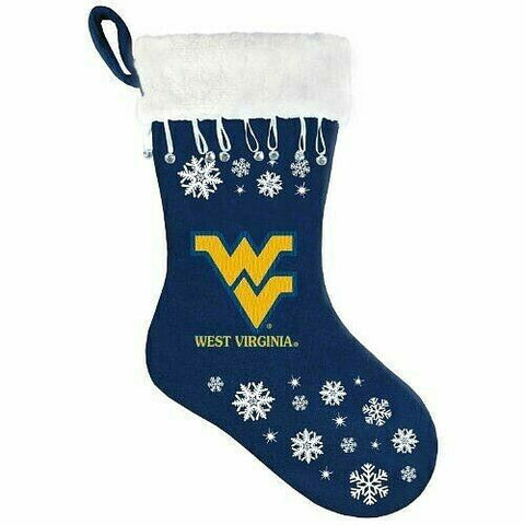 WEST VIRGINIA MOUNTAINEERS NCAA Snowflake Christmas Santa Stocking