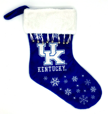 KENTUCKY WILDCATS NCAA Full Embroidered Snowflake Christmas Santa Stocking