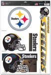 PITTSBURGH STEELERS NFL Reusable Vinyl Decals Set of 5 for Car or Home Windows