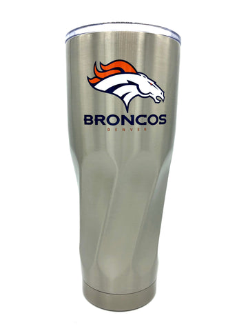 DENVER BRONCOS Double Wall Stainless Steel Twist Design Tumbler, 30oz