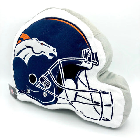 "DENVER BRONCOS NFL Helmet Plush Pillow 12""x15"""