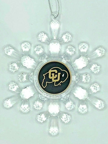 COLORADO BUFFALOES NCAA Traditional Acrylic Snowflake Christmas Ornament
