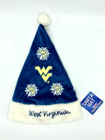 WEST VIRGINIA MOUNTAINEERS NCAA Embroidered Christmas Santa Hat