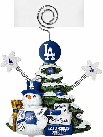 LOS ANGELES DODGERS MLB Christmas Tree Photo Holder with Snowman