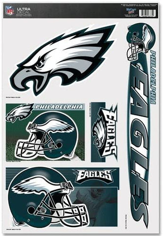 PHILADELPHIA EAGLES NFL Reusable Vinyl Decals Set of 5 for Car or Home Windows