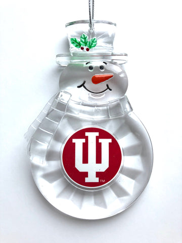 INDIANA HOOSIERS NCAA Traditional Acrylic Snowman Ornament