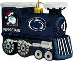 PENN STATE NITTANY LIONS NCAA Blown Glass Train Christmas Tree Ornament
