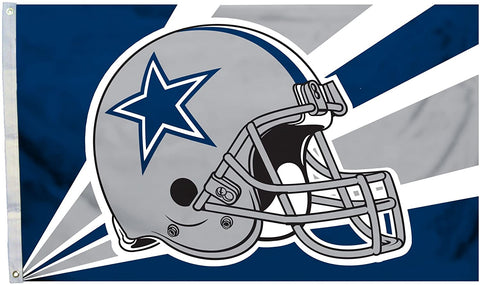 DALLAS COWBOYS NFL 3 ft. x 5 ft. Helmet Design Flag with Grommets