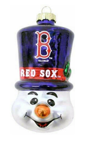 BOSTON RED SOX MLB Top Hat Snowman Christmas Ornament
