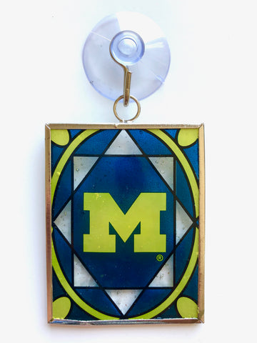 MICHIGAN WOLVERINES NCAA Stained Glass Christmas Ornament & Suncatcher