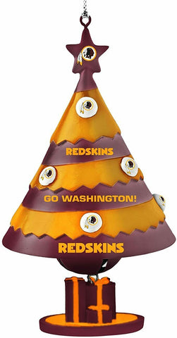 WASHINGTON REDSKINS NFL Tree Bell Christmas Ornament