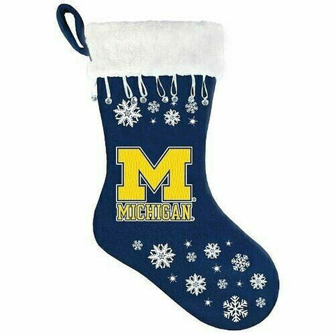 MICHIGAN WOLVERINES NCAA Snowflake Christmas Santa Stocking