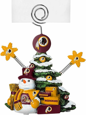 WASHINGTON REDSKINS NFL Christmas Tree Photo Holder with Snowman