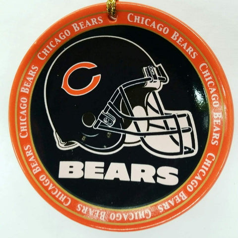 CHICAGO BEARS NFL Mini Ceramic Plate Christmas Ornament