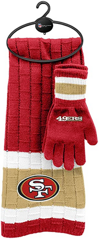 SAN FRANCISCO 49ERS NFL Knit Scarf & Gloves Set
