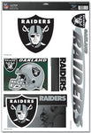 LAS VEGAS (OAKLAND) RAIDERS NFL Reusable Vinyl Decals Set of 5 for Auto Windows