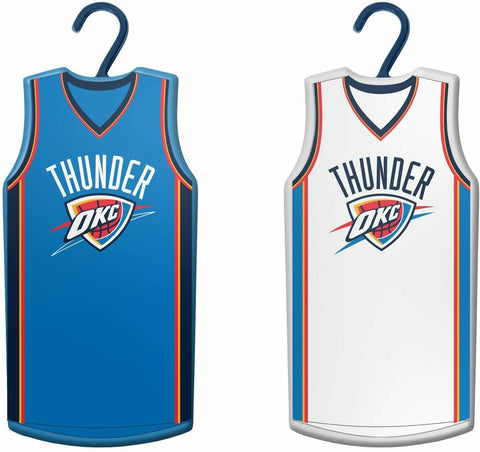 OKLAHOMA CITY THUNDER NBA Home & Away Jersey Christmas Ornament 2-Pack