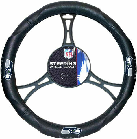 SEATTLE SEAHAWKS NFL Synthetic Leather Steering Wheel Cover