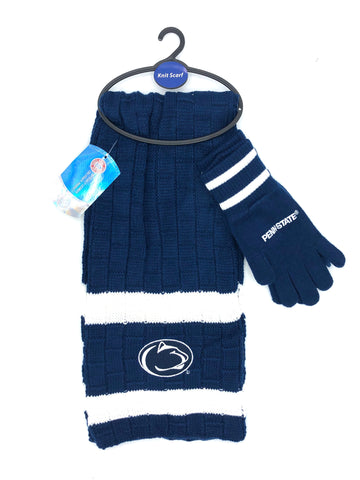 PENN STATE NITTANY LIONS NCAA Knit Scarf & Gloves Set