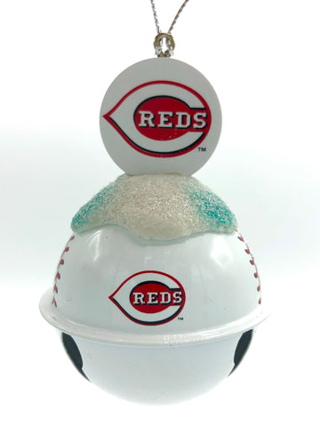 CINCINNATI REDS MLB Metal Baseball Bell Ornament
