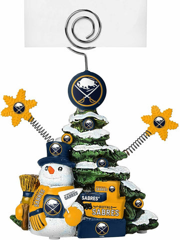 BUFFALO SABRES NHL Christmas Tree Photo Holder with Snowman