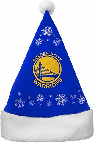 GOLDEN STATE WARRIORS NBA Full Embroidered Snowflake Christmas Santa Hat