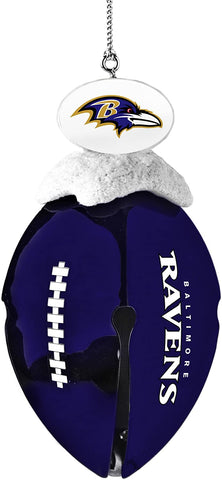 BALTIMORE RAVENS NFL Metal Football Bell Christmas Ornament