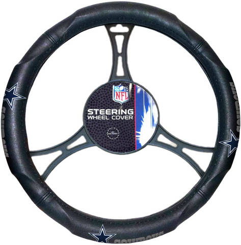 "DALLAS COWBOYS NFL Premium Synthetic Leather Steering Wheel Cover 14.5"" x 15.5"""