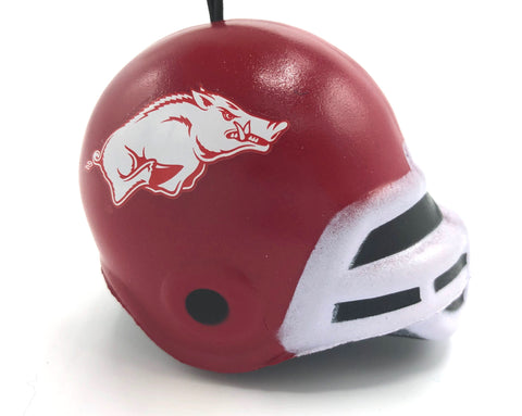 ARKANSAS RAZORBACKS NCAA Soft Squish Helmet Ornament
